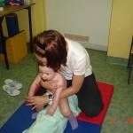 17. Turnus rehabilitacyjny w Dzierżążnie. Ćwiczę z Panią rehabilitantką jak umiem najlepiej, chociaż chwilami mam dość.
