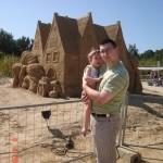 44. Z Mama i Tatą wybrałeś się na wystawę budowli z piasku, najbardziej podobały mi się piaskowe konie